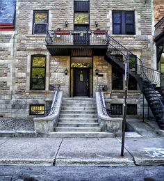 Residence #home #street #stairs #door Stairs, Doors, Mansions, Street, House Styles, City, Home Decor, Puertas, Stairway