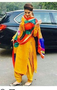 HappyShappy - India's Own Social Commerce Platform Punjabi Fashion, Indian Fashion, Simple Indian Suits, Patiala Salwar Suits, Shalwar Kameez, Indian Designer Suits, Churidar Designs, Embroidery Suits, Indian Wear
