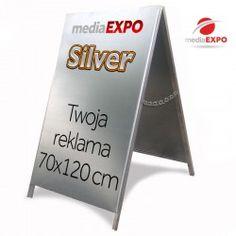 Potykacz aluminiowy SILVER 70x120cm