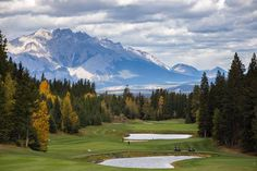 Thank you @andrewluntphoto for the unbelievable view of Stewart Creek, No filter needed. #golf #mountains #explore #canmore #fall #alberta