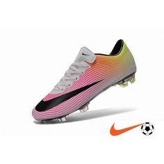 Kopen Goedkoop Nike Mercurial Vapor X FG Wit/Zwart/Total Oranje/Volt Firm-Ground Voetbalschoenen NL