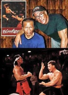"the-history-of-fighting: "" Bolo Yeung & Jean Claude Van Damme - 1988 (bottom) and 2011 (top). Martial Arts Movies, Martial Artists, Artiste Martial, Bolo Yeung, Claude Van Damme, Bruce Lee Martial Arts, Bruce Lee Quotes, Art Of Fighting, Hollywood"