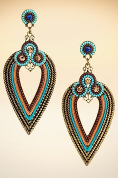 Unique beaded earrings. #BostonProper #Jewelry #boho