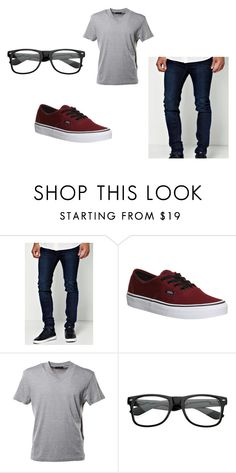 """""""random"""" by kmcollins2000 on Polyvore featuring BoohooMAN, Vans and Prada"""