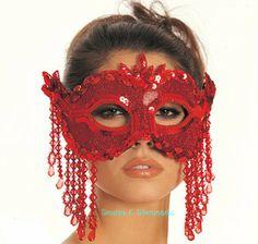 drama mask | Dragon Half Mask (Red) Adult Accessory|Elegant-Moments|Deals for Eye ...
