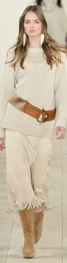 @roressclothes clothing ideas #women fashion knit sweater Ralph Lauren Fall Winter 2015-16
