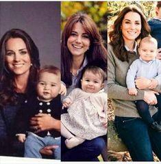Duchess Catherine, Prince George, Princess Charlotte Elizabeth Diana, and Prince Louis