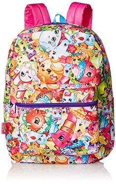This vibrant unique backpack features a fun all over print of the Shopkins characters. Shopkins fans will love this bag....