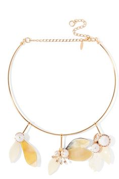 Marni | Gold-plated, crystal and horn necklace