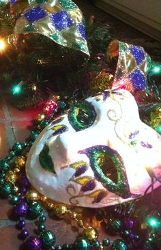 Mardi Gras mask Atdweddingandeventflowers