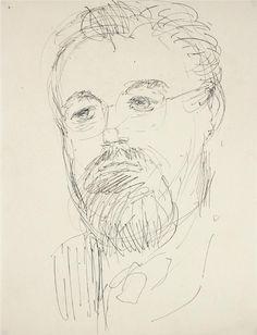 "25468- Dellard Cassity, Mid 20th Century, Ink on Paper, 8.5""x11"", $195"
