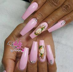🌸🌸BUBBLE YUM-YUM🌸🌸..... #sculpture #nails #spring #flowers #nostickers  #handpai