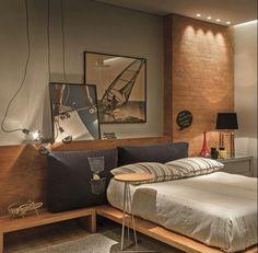 Brics in bedroom parede tijolinho