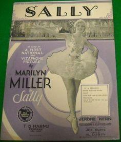 Sheet Music Sally Jerome Kern Marilyn Miller on PopScreen