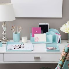 Light blue office organizer set | by Silhouette