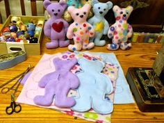 Megan's Tiny Treasures: Free Teddy Bear Pattern - A simple softie to sew for Bearathon