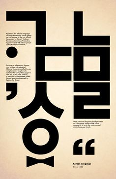 Korean language - Design