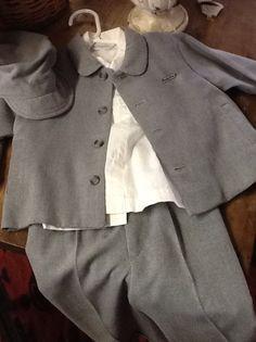 Adorable Vintage Boys Three Suit plus Cap by 3birdz on Etsy