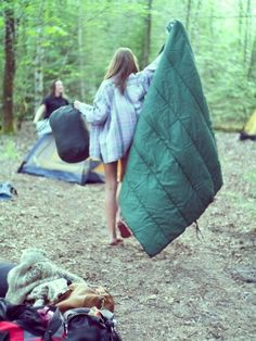 go camping with closest friends