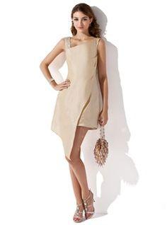 Special Occasion Dresses - $114.99 - Sheath/Column V-neck Asymmetrical Taffeta Homecoming Dress With Lace Beading Sequins  http://www.dressfirst.com/Sheath-Column-V-Neck-Asymmetrical-Taffeta-Homecoming-Dress-With-Lace-Beading-Sequins-022009647-g9647