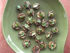 Miso-glazed eggplant bites with shiitake mushrooms
