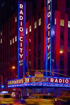 Radio City Music Hall : First place I ever went to  in N.Y. with my friend on my very first visit.