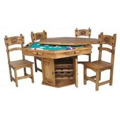 Something to consider... Six Sided Poker Table by Million Dollar Rustic Western Furniture, Rustic Furniture, Furniture Decor, Outdoor Furniture Sets, Furniture Projects, Primitive Tables, Hidden Games, Wood Games, Lounge