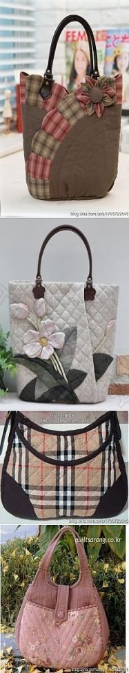 Sew on patchwork bags. – Sew on patchwork bags. Patchwork Bags, Quilted Bag, Patchwork Quilting, Patchwork Designs, Sacs Tote Bags, Bag Sewing, Sewing Jeans, Diy Sac, Purse Patterns