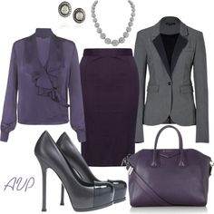 Gray and Grape, created by amy-phelps on Polyvore