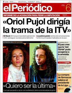Los Titulares y Portadas de Noticias Destacadas Españolas del 6 de Febrero de 2013 del Diario El Periódico ¿Que le parecio esta Portada de este Diario Español?