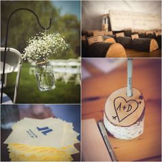 Rustic Wedding Decorations. These would work so well at the #paynecorleyhouse!