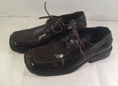 "BORELLI ""Derek"" Mens Brown Lace Up Dress Shoes Size 8, Good Condition #Borelli #Oxfords #Formal"
