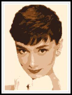 """Gráfico para punto de cruz de """"Audrey Hepburn""""."""