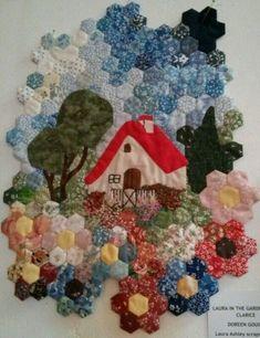 Hexagon Quilt Pattern, Hexagon Patchwork, Patch Quilt, Applique Quilts, Paper Piecing Patterns, Quilt Patterns, Quilting Projects, Quilting Designs, Pach Aplique