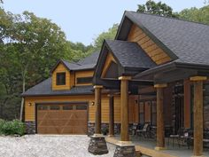 This house features siding and shakes in Diamond Kote Maple.