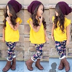 Gonna dress my little girl like this Little Girl Outfits, Cute Outfits For Kids, Little Girl Fashion, Cute Little Girls, My Little Girl, Toddler Fashion, Toddler Outfits, My Girl, Kids Fashion
