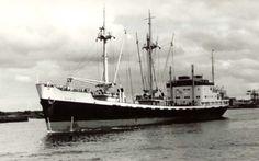 14 oktober 1964 Het ms 'Doris' (1956) van de KNSM uit Amsterdam, http://koopvaardij.blogspot.nl/2015/10/14-oktober-1964.html