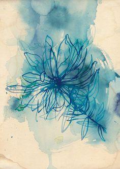 Blue Wash Wild Flower archival quality print. $24.00, via Etsy.   I LOVE this image!!
