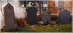 DIY  Halloween gravestones