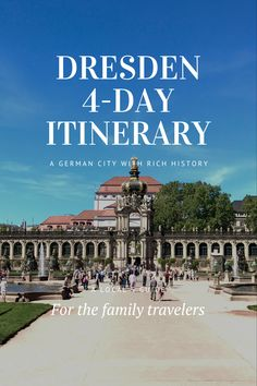 Dresden is a city with rich culture and history. I have spent four days in Dresden and explored castles, nature sites, and the best German craftsmanship, the famous Meissen porcelain. # #Dresden # #tour #europe #dresdenitinerary #Dresdengateway #itinerary #Germany #daytrips #traveltips #weekendtrip #德国 #Deutschland #roadtrip #thingstodo #familywithkids #familytravel #germanylocaltip #localtip Road Trip Europe, Europe Travel Guide, Travel Guides, Travel Destinations, European Vacation, European Travel, Germany Travel, Germany Europe, Germany Photography
