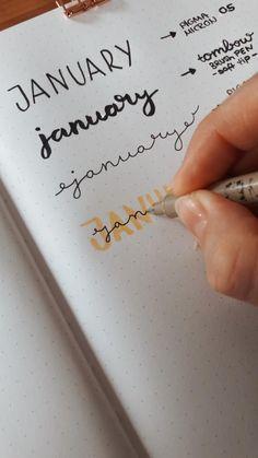 Bullet Journal Lettering Ideas, Journal Fonts, Bullet Journal Notebook, Bullet Journal School, Bullet Journal Ideas Pages, Bullet Journal Inspiration, Scrapbook Journal, Hand Lettering Art, Hand Lettering Tutorial