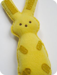 Dont give your little one chocolate...when this felt bunny is made from the heart and so cute!