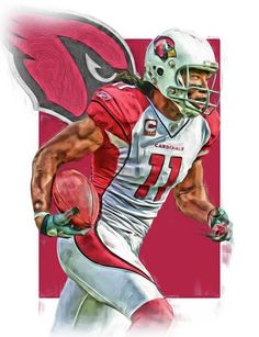 Larry Fitzgerald Print featuring the mixed media Larry Fitzgerald Arizona Cardinals Oil Art 2 by Joe Hamilton Arizona Cardinals Wallpaper, Football Boys, Chiefs Football, Football Players, Arizona Cardinals Football, Joe Hamilton, Sports Painting, Sports Drawings, Larry Fitzgerald