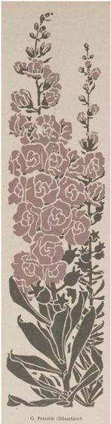 Jugendstil, 1906  Floral design by G. Petzoldt