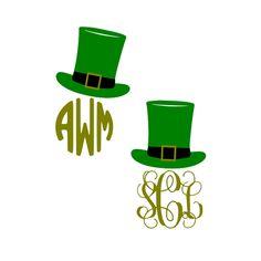 St Patrick's Day Vinyl Decal - Leprechaun Hat Decal - Monogram Decal - Car Decal - Sticker - Circular Decal - Script Monogram by GRAPHICSBYKODI on Etsy https://www.etsy.com/listing/225441290/st-patricks-day-vinyl-decal-leprechaun