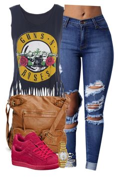 """""""Guns & Roses ."""" by cheerstostyle ❤ liked on Polyvore featuring Puma, BP. and Bulova"""