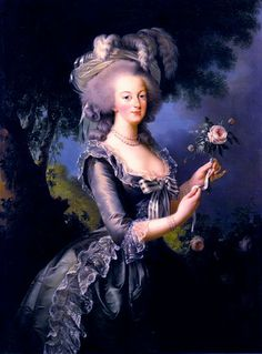 Marie Antoinette by Elisabeth Vigee-Lebrun.  Lebrun painted most of the portraits of the French Queen.