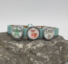Schmuck Design, Turquoise Bracelet, Etsy, Kindergarten, Personalized Bracelets, Personalized Gifts, School Kids, Kindergartens, Preschool