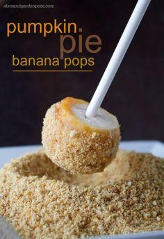 Pumpkin Pie Banana Pops Recipe