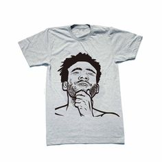 Childish Gambino Heather Grey Tee // Donald Glover 3005 STN MTN/Kauai Because the Internet // Babes & Gents // www.babesngents.com